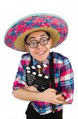 picture of sombrero  - Funny mexican with sombrero in concept - JPG