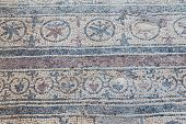 foto of dalyan  - Mosaic in Kaunos Church Dalyan Town Turkey