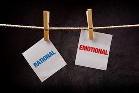 foto of cognitive  - Rational vs Emotional concept - JPG
