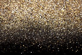 stock photo of xmas star  - Christmas Gold and Silver Glitter background - JPG