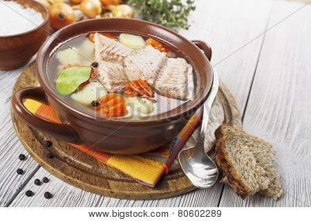 Fish Soup In The Bowl