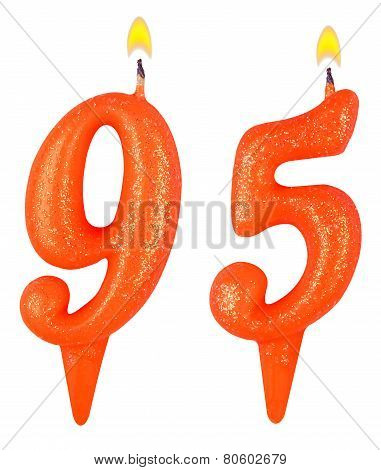 Birthday Candles Number Ninety Five