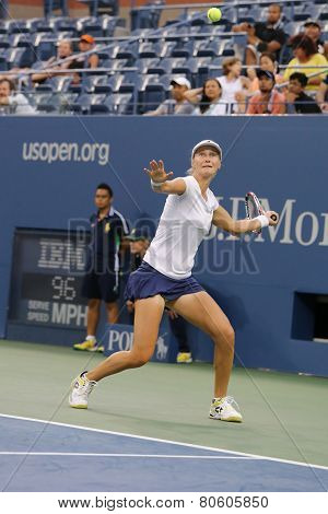 US Open 2014 women doubles champion Ekaterina Makarova during final match