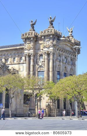 Barcelona. Customs House, It Is Built At The Beginning Of 20 Century