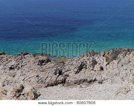The Croatian Adriatic sea