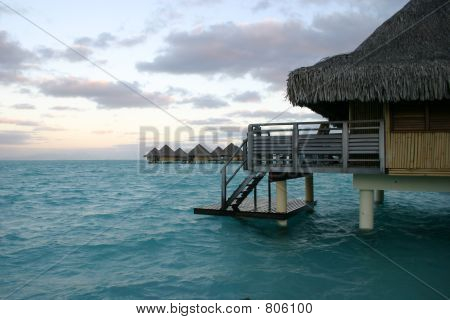 Sunset from Deck in Tahiti