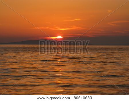Sunset seen from the island Ist