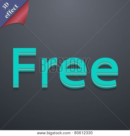 Free Icon Symbol. 3D Style. Trendy, Modern Design With Space For Your Text Vector
