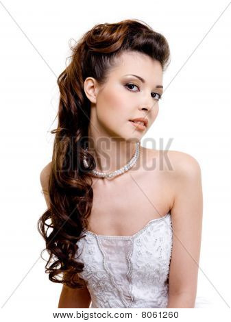 Beautiful Bride With Wedding Hairstyle