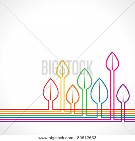 Colorful leaf background stock vector