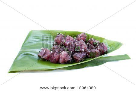 Tuna Sashimi Salad - Ahi Kukui Nut Poke