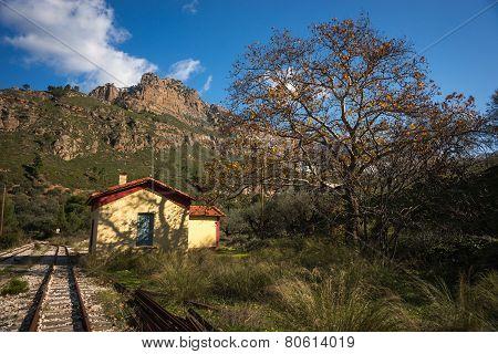 Vouraikos Gorge, Peloponnese, Greece