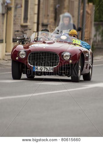 OLD Ferrari 250 MM spider Vignale 1953 CAR MILLE MIGLIA 2014