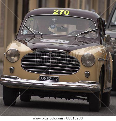 OLD CAR Moretti 750 S berlinetta Alger le Cap 1953 MILLE MIGLIA 2014