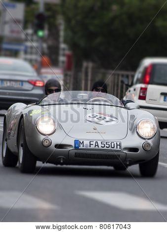 OLD CAR Porsche 550 Spyder RS 1955 MILLE MIGLIA 2014