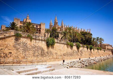 La Seu Cathedral And Almudaina In Palma De Mallorca