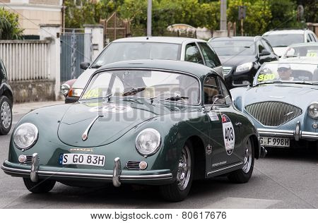 OLD CAR Porsche 356 A 1600 1956 mille miglia 2014
