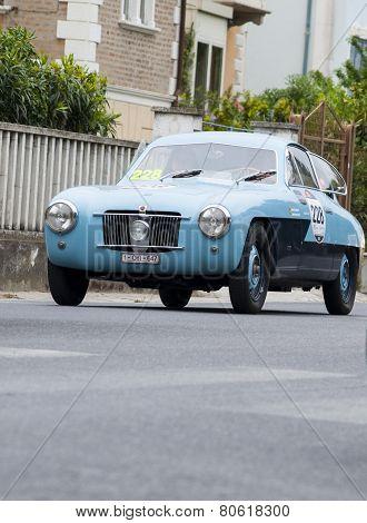 old car Zagato FIAT 1100 E Coupé 1952 mille miglia 2014