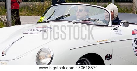 old car Porsche 356 1500 Speedster 1955 mille miglia 2014