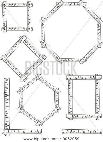 Five versions of birch frames