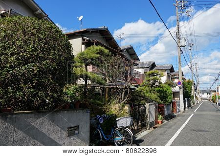Normal Japanese House Located In Osaka City