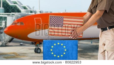 Transport Air Parcel Delivery Service Usa And Europe