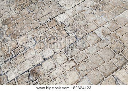 Gray Stone Floor Pavement, Background Texture