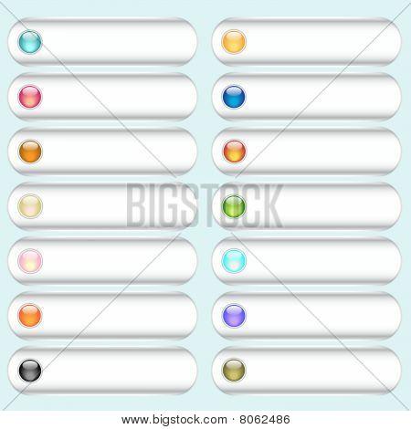 Vector button collection