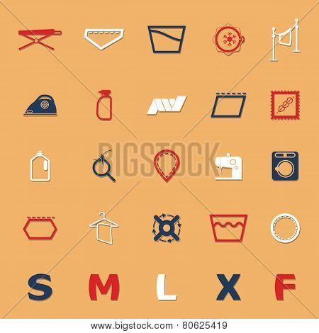 Cloth Care Sign And Symbol Icons With Shadow
