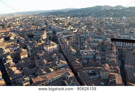 Fantastic Panoramic Views Of The City Of Bologna From The  Hightower