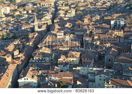 Panoramic Views Of The City Of Bologna From The Tower