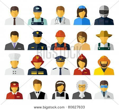 Different professions avatars icons