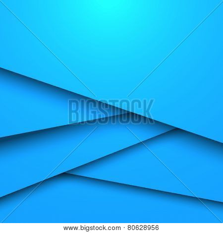 Abstract blue layered vector background with copy space.
