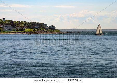 Sailboat Off Cape Cod