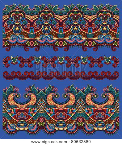 seamless ethnic floral paisley stripe pattern