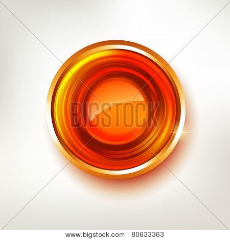 Hot Red Colors Abstract Circle Badge