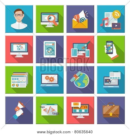 Seo Internet Marketing Flat Icon