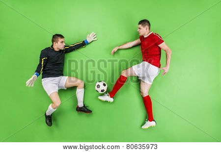 Football player and goalkeeper