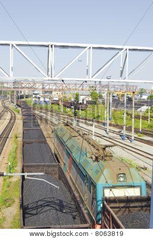 Tren con carbón