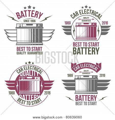 Car Battery Shop  Emblems