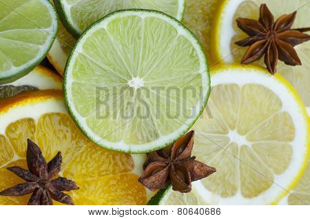 Citrus Fruits And Star Anise