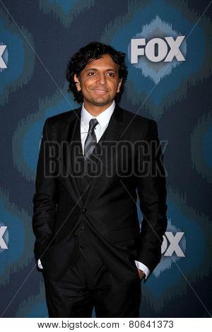 LOS ANGELES - JAN 17:  M. Knight Shyamalan at the FOX TCA Winter 2015 at a The Langham Huntington Hotel on January 17, 2015 in Pasadena, CA