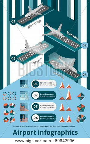 Airport Infographic Set