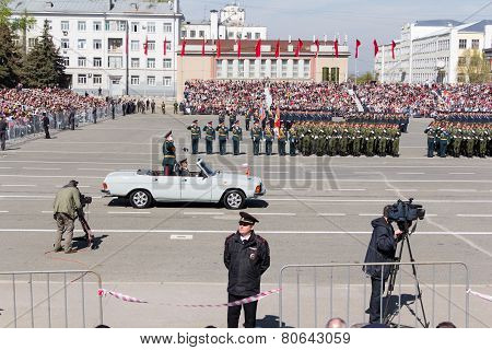 Russian Ceremony Of The Opening Military Parade On Annual Victory Day