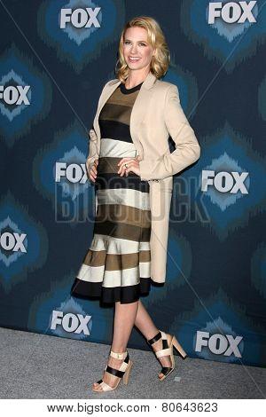 LOS ANGELES - JAN 17:  January Jones at the FOX TCA Winter 2015 at a The Langham Huntington Hotel on January 17, 2015 in Pasadena, CA