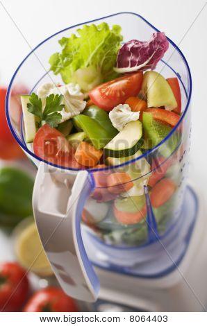 Gemüse in blender