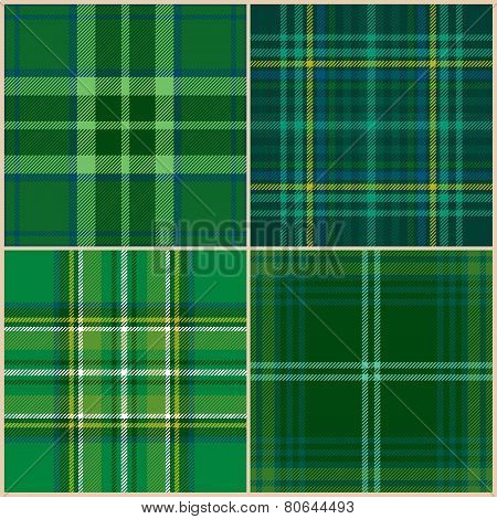 collection of vector st. patrick's backgrounds