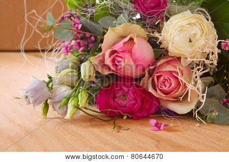 Roses bouquet isolated.