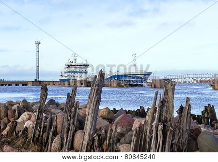 Breakwaters On The Coast Of The Baltic Sea
