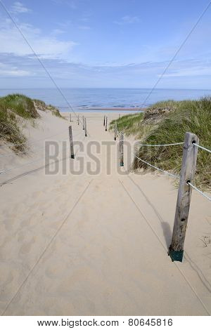 Pathway Through Dunes to Beach